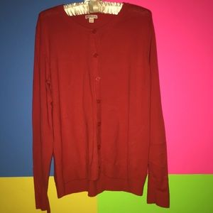 Women's Cardigan Sweater Merona XXL Red